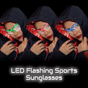 LED Flashing Sports Sunglasses