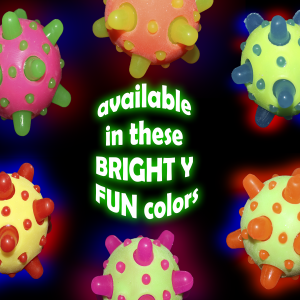"2.5"" Light-Up Bouncy Balls with Spikes"