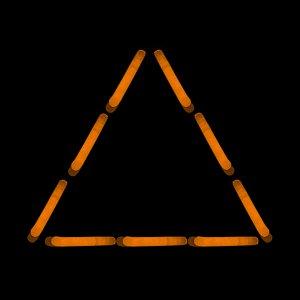 1.5 Inch Mini Sticks - Orange