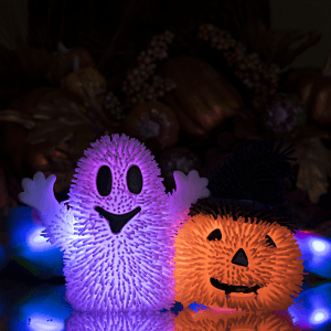 LED Light-Up Happy Halloween Puffer Toys