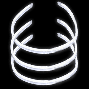 22'' Twister Glowstick Necklaces - White