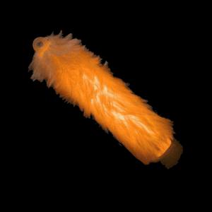 6'' Fuzzy Glow Sticks - Orange