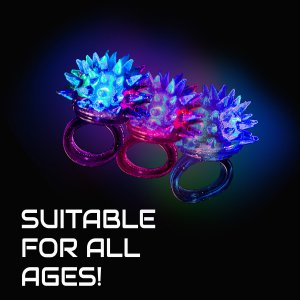 LED Flashing Porcupine Rings
