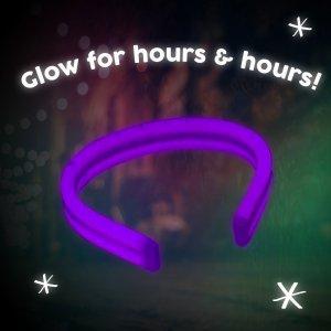 8'' Twister Glowstick Bracelets - Purple