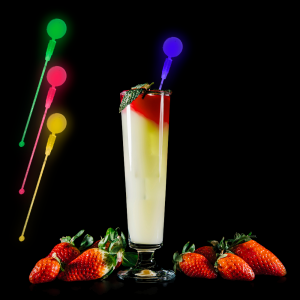 LED Light Up Circle Cocktail Stirrers