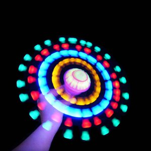 LED Flashing UFO Spinning Space Wand