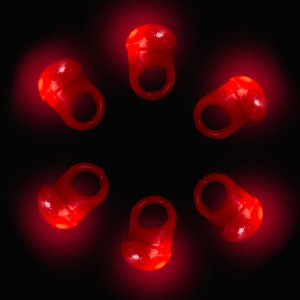 LED Flashing Jelly Ring- Red