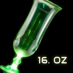 LED Flashing 16oz Hurricane Glass