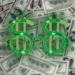 Light Up Green Dollar Shades