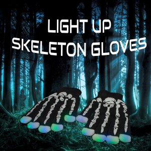 LED Light Up Skeleton Gloves