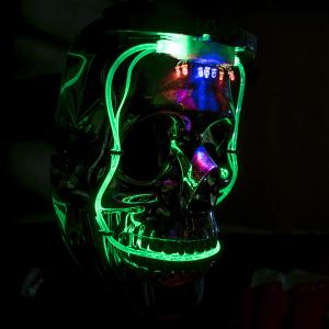 LED Light Up Halloween Skull Mask