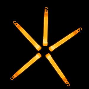 6'' Premium Glow Sticks - Orange