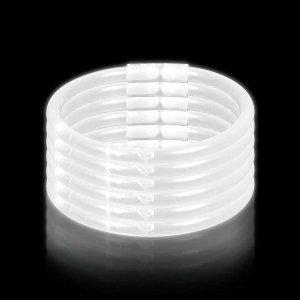 10 Inch Glow Stick Bracelets - White