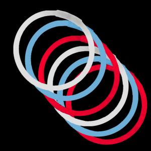 """10"""" Bracelets -Red, White & Blue (300 Pack)"""