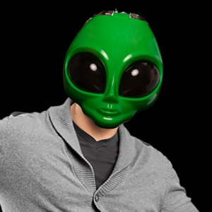 Light-Up Alien Mask
