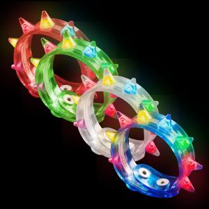 LED Flashing Spike Bracelets