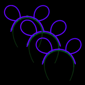 Glow Bunny Ears - Purple