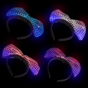 LED Flashing Bow Headbands