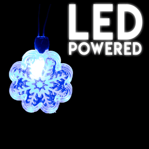 Light-Up Holiday Necklace- Snowflake