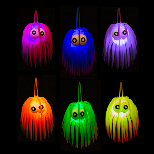 "LED 3"" Two-Tone Light-Up Puffers With Eyes"