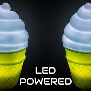 """5.5"""" Ice Cream Cone LED Tap Lamp"""