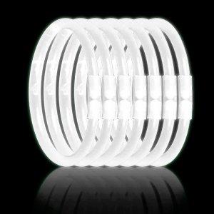 8 Inch Glowstick Bracelets - White