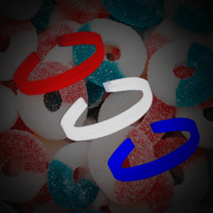 "8"" Twister Bracelets -Red, White & Blue (120 Pack)"