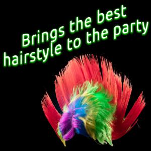 LED Flashing Multi-Color Mohawk Wig