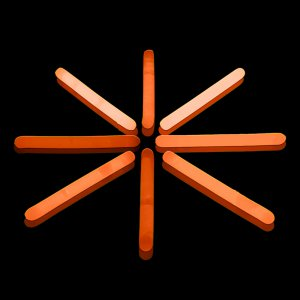 2 Inch Mini Glow Sticks - Orange