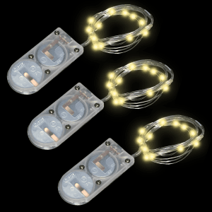 39 Inch Silver Wire Fairy Lights - Warm White