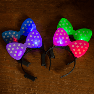 Light-Up Flashing Polka-Dot Bow Headbands