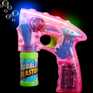 "7"" Light-Up Pink Bubble Blaster"