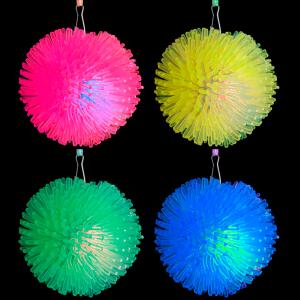 LED Light-Up Pom Pom Necklaces