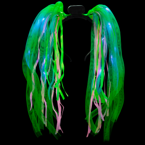 LED Light-Up Tentacle Headbopper- Green