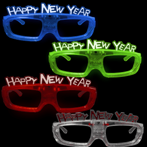 "Sound Activated Light-Up ""Happy New Year"" Glasses"