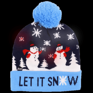 LED Light-Up Knitting Christmas Let It Snow Hat