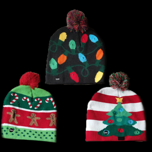 LED Light-Up Knitting Christmas Hats