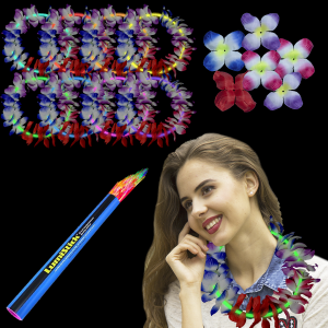 22 Inch Glow Leis - 8 Color Mix