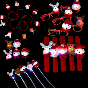 Christmas Party Favors for Kids  & Adult Light-Up Decoration Sets