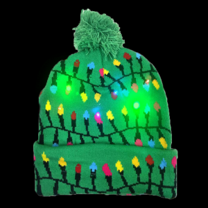 LED Light-Up Knitting Christmas Little Bulb Hat