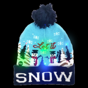 LED Light-Up Knitting Christmas Snow Hat