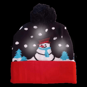 LED Light-Up Knitting Christmas Snow&Tree Hat