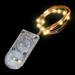20 Inch Copper Wire Fairy Lights - Warm White Flashing Light