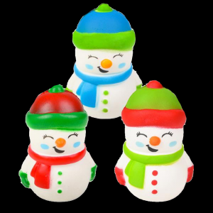 "4"" Squish Snowman- Assorted"