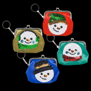"Snowman Purse Keychain 4.75""X4"" (Assorted)"