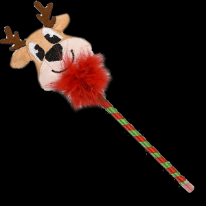 "10"" Plush Holiday Reindeer Pen"