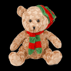 "10.5"" Christmas Bear Plush"
