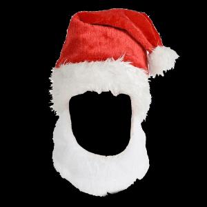 "15"" Santa Hat W/Beard"