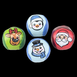 "2"" Christmas Kickball- Assorted"