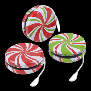 "2"" Metal Peppermint Yo-Yo- Assorted"